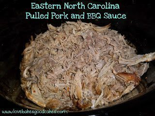 Pulled pork and bbq sauce in a crock pot