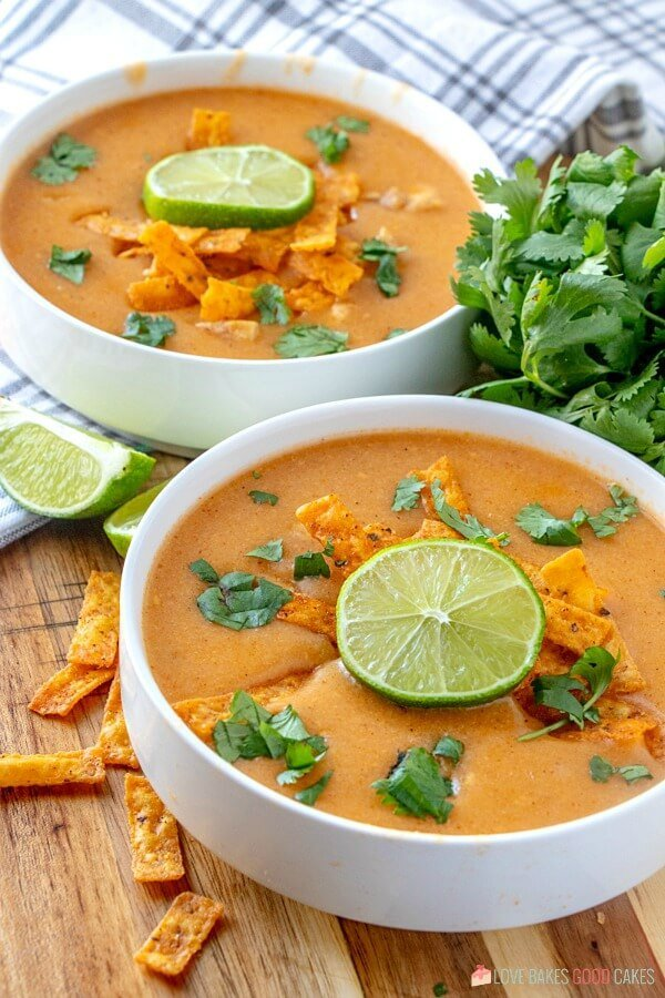 hearty and delicious soup in bowls