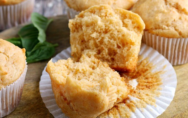 completed recipe for parmesan cheese muffins.