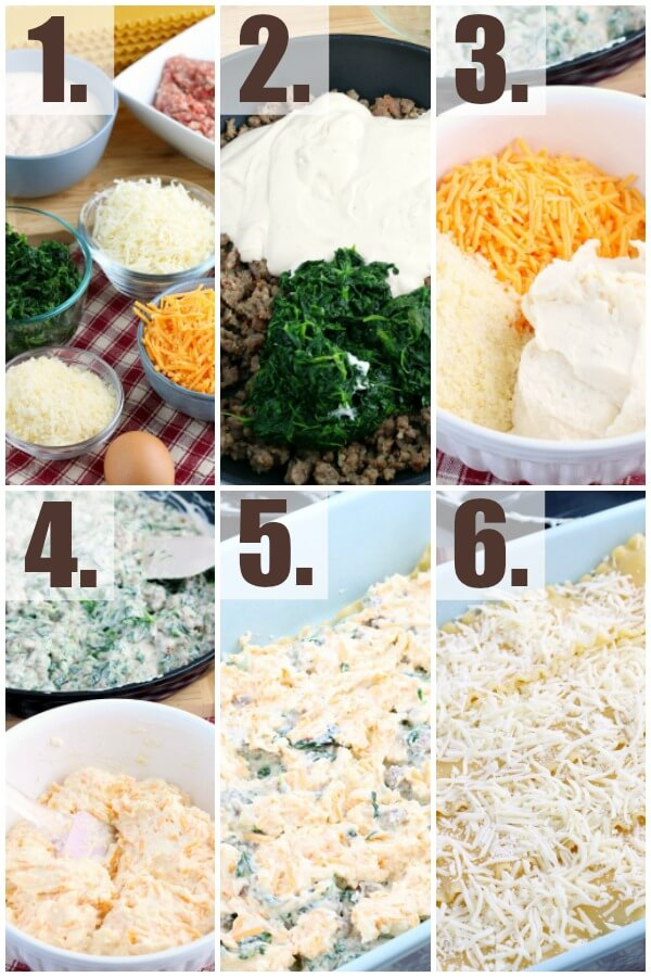 step by step how to make spinach alfredo lasagna