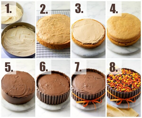 step by step how to make kit kat cake