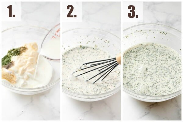 How to make homemade ranch dressing step by step