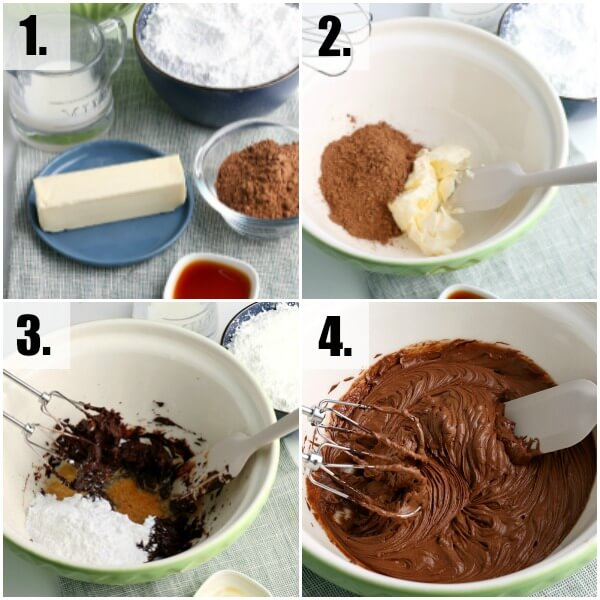step by step how to make chocolate frosting buttercream