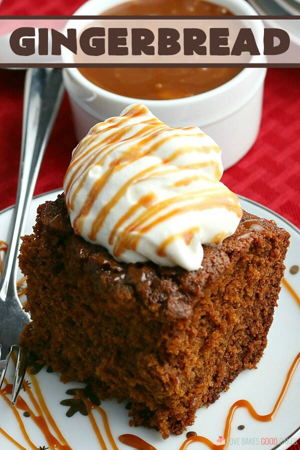 The sweet and spicy aroma of freshly baked Gingerbread will make your home smell like Christmas! This dense moist cake is a timeless classic!
