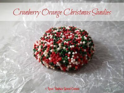 Cranberry Orange Christmas Sandies on wax paper.