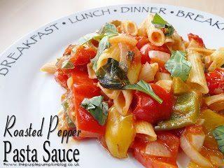 Roasted Pepper Pasta Sauce {Vegan} from The Purple Pumpkin Blog.