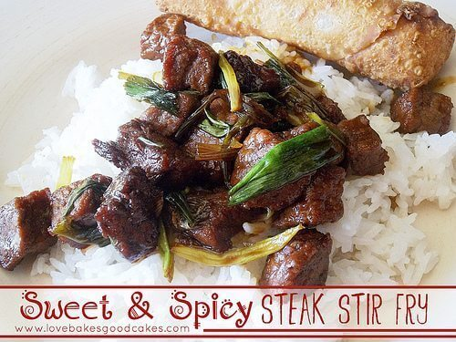 Sweet & Spicy Steak Stir Fry