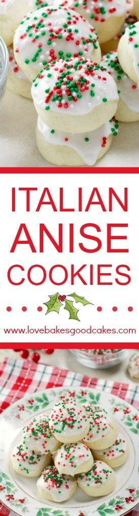 Italian Anise Cookies collage.
