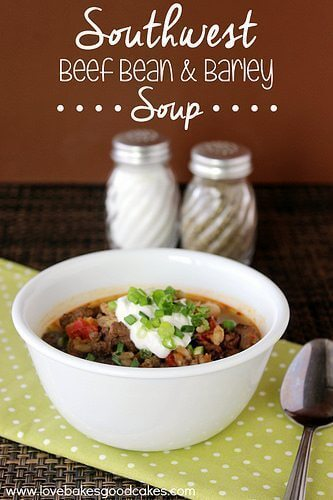 Southwestern Beef Bean & Barley Soup