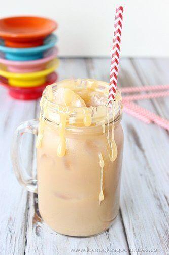 Iced Salted Caramel Latte
