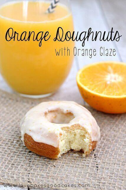 Orange Doughnuts with Orange Glaze