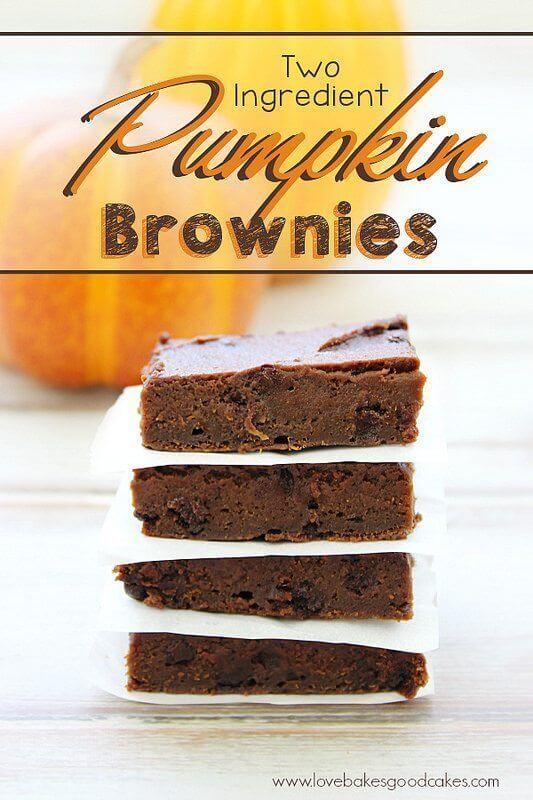 Two Ingredient Pumpkin Brownies