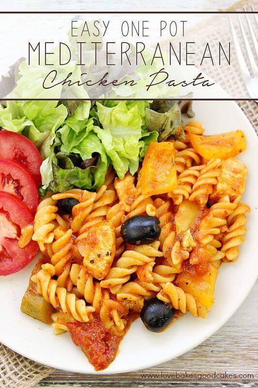 Easy One Pot Mediterranean Chicken Pasta