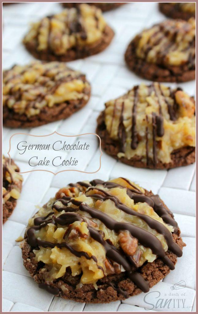 German Chocolate Cake Cookies.