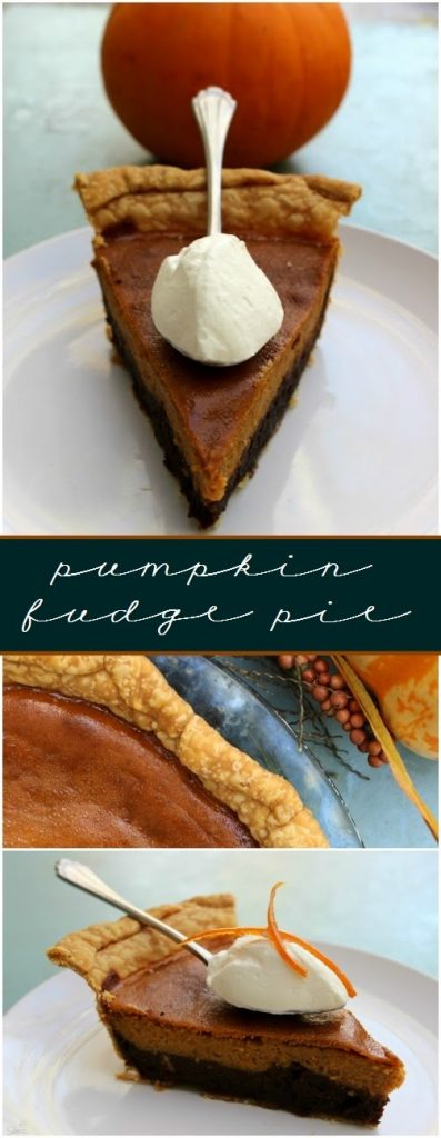 Pumpkin Fudge Pie.