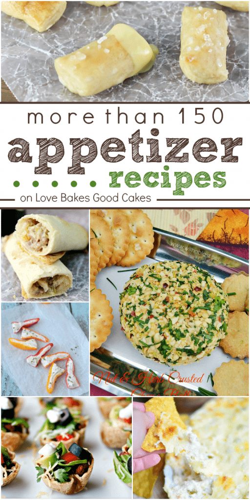 More than 150 appetizerrecipes collage.