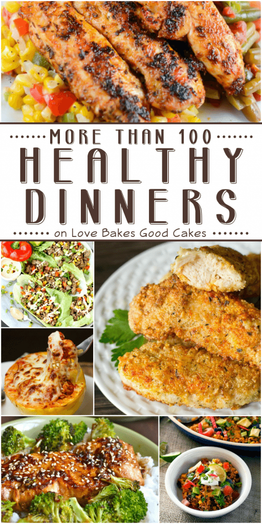 More than 100 healthy dinners.