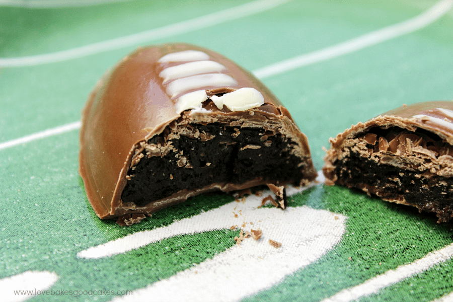 OREO Cookie Ball Game Day footballs with OREO cookie filling inside.