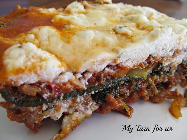 Zucchini Lasagna on a plate.