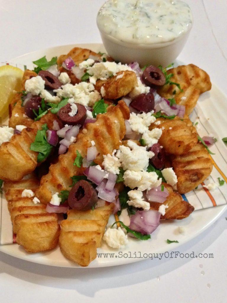 Greek Fries with dip.