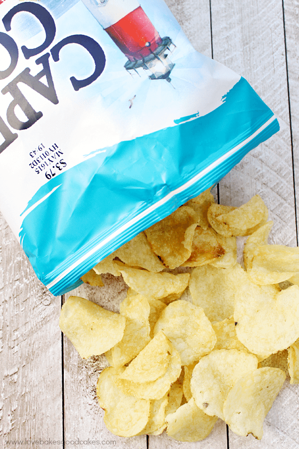 Cape Cod® Potato Chips falling out of the package.