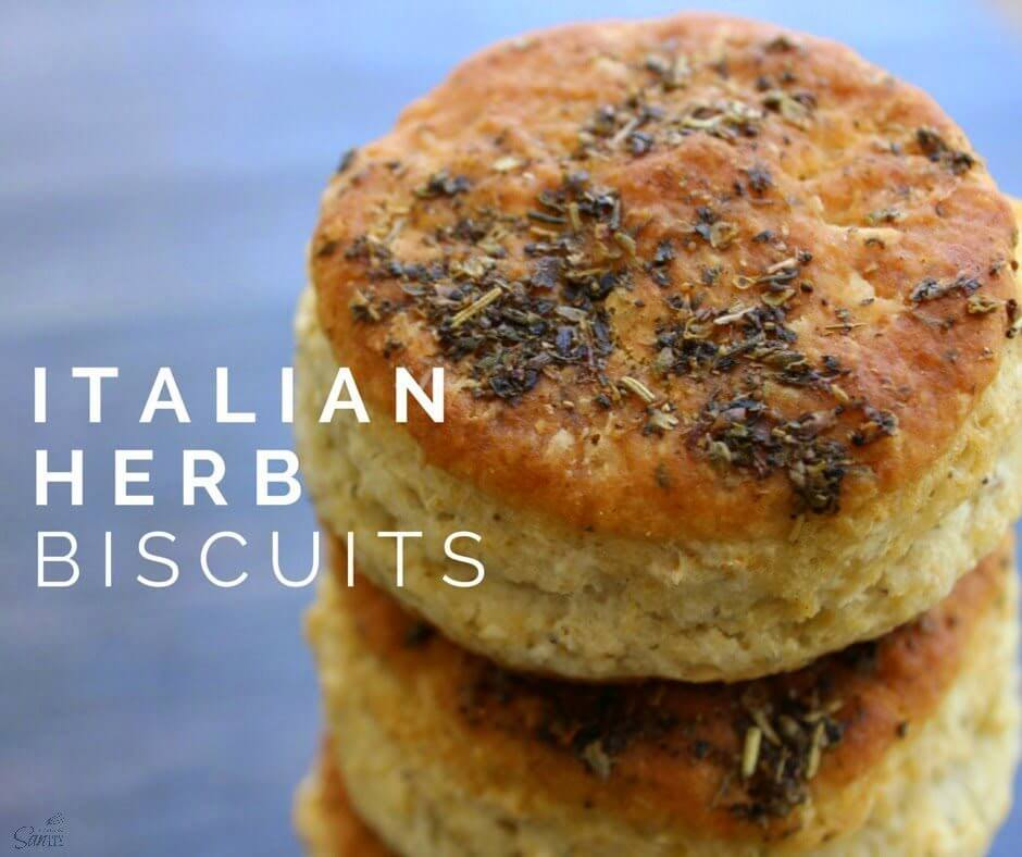 Italian Herb Biscuits close up.