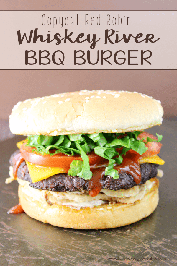 Copycat Red Robin Whiskey River BBQ Burger