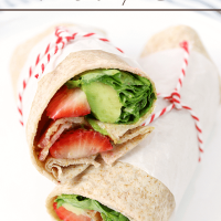 Bacon, Avocado & Strawberry Wraps