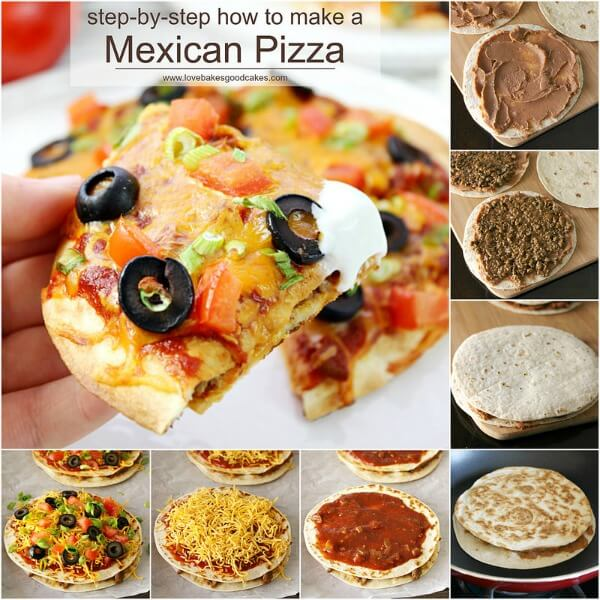 step by step how to make mexican pizza