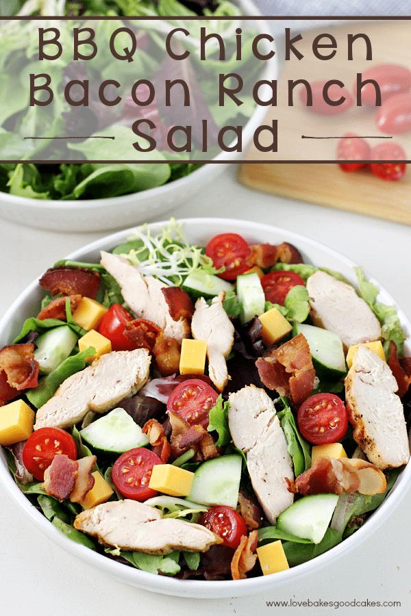 BBQ Chicken Bacon Ranch Salad