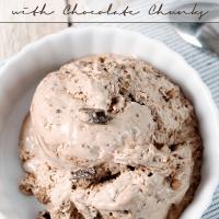 {No-Churn} Chocolate Cake Batter Ice Cream with Chocolate Chunks