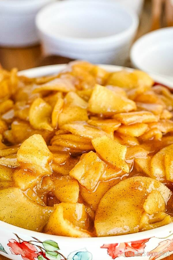 Close-up of Fried Apples in bowl.