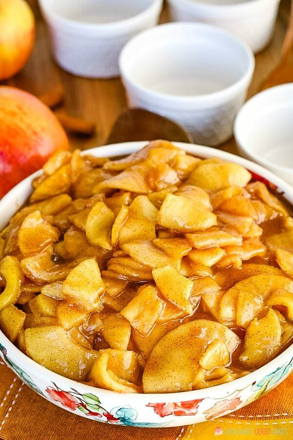 Fried Apples in a bowl.