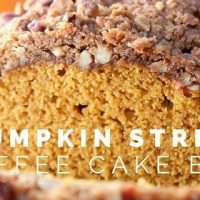 Pumpkin Streusel Coffee Cake Bread