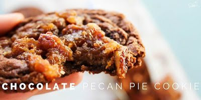 Chocolate Pecan Pie Cookies on a plate.