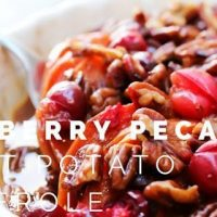 Cranberry Pecan Sweet Potato Casserole