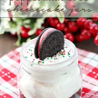 White Chocolate Peppermint Oreo Cheesecake Jars