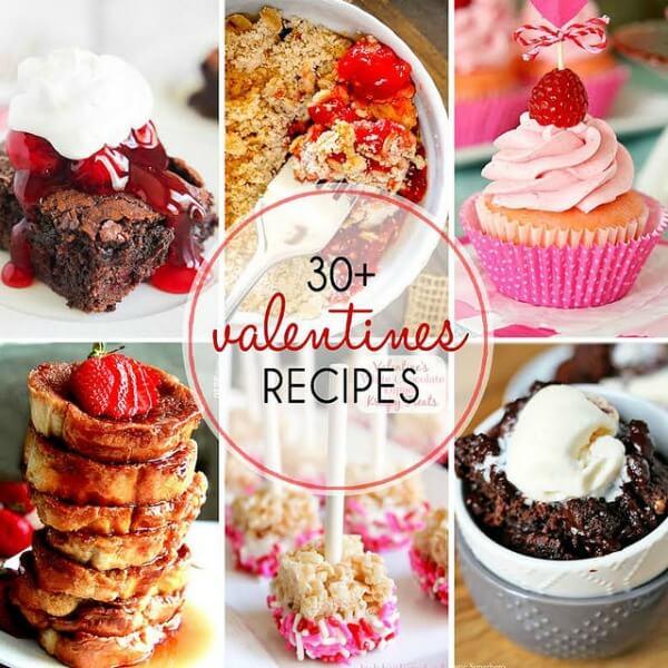 30+ Valentine's Recipes collage.