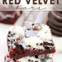 Cookie Lover's Red Velvet Bars