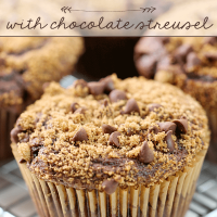 Chocolate Muffins with Chocolate Streusel