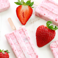 Strawberry-Yogurt Popsicles