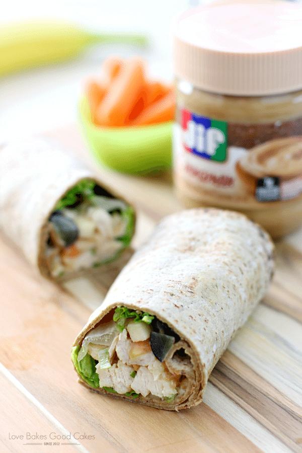 PB Apple Chicken Salad Wraps