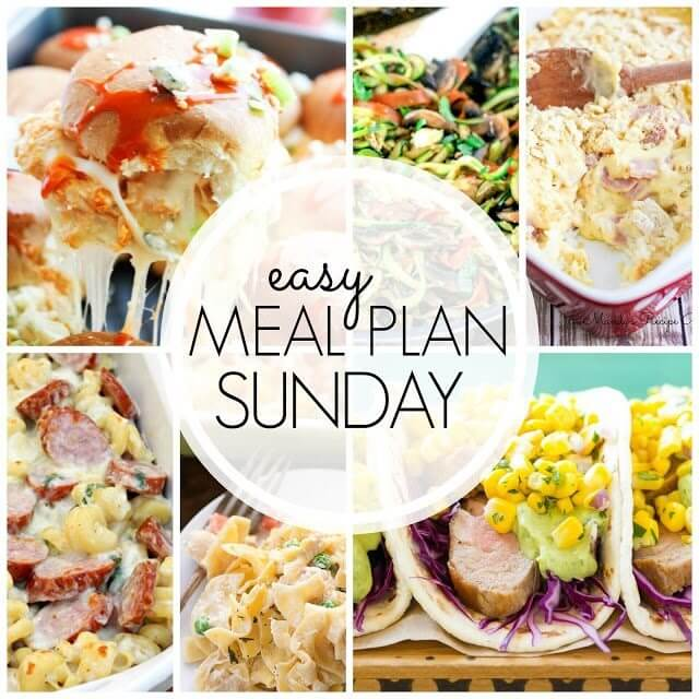 Easy Meal Plan Sunday collage.