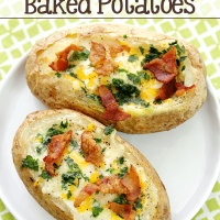 Bacon & Egg Stuffed Baked Potatoes