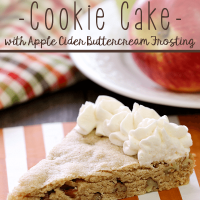 Apple Cider Pecan Cookie Cake with Apple Cider Buttercream Frosting