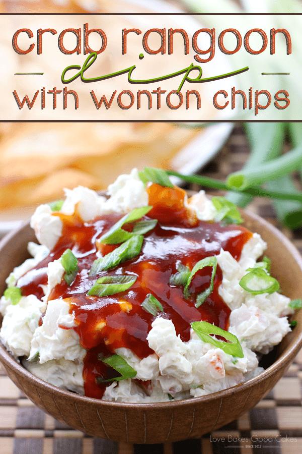 Crab Rangoon Dip with Wonton Chips