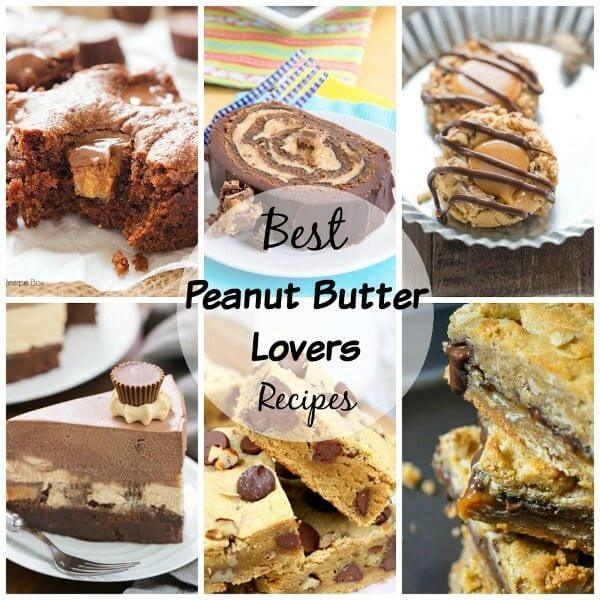 Best Peanut Butter Recipes collage.