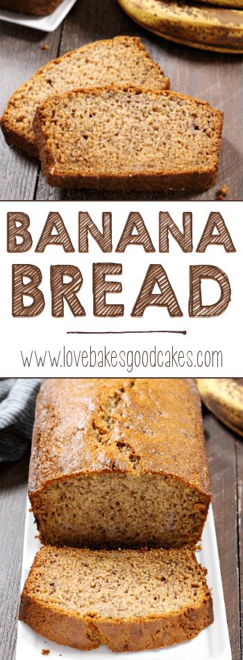 Banana bread collage.