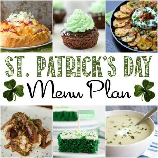 St. Patrick's Day Menu Plan collage.