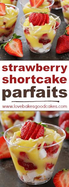 Strawberry Shortcake Parfaits collage.